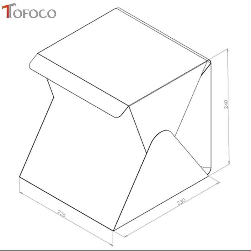 TOFOCO 22.6 cm x 23 cm x 24 cm Mini caja de estudio de fotos - Cámara y foto - foto 6