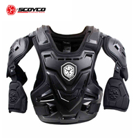 SCOYCO CE Motorcycle Armor Motocross Chest Back Protector Armour Vest Motorcycle Jacket Racing Protective Body Guard MX Armor