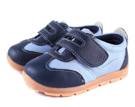 SandQ baby Boys sneakers soccers shoes girls sneakers Children leather shoes pink red black navy genuine leather flexible sole 3