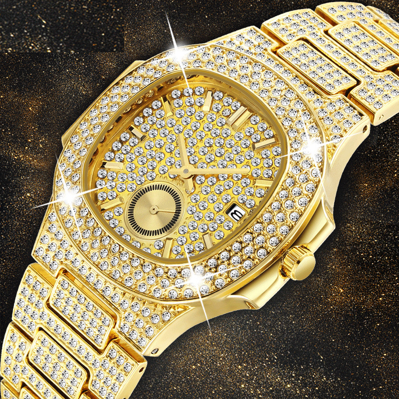 Watch men diamond gold watches superior classic mens watches top brand luxury men wristwatch clock male business rinestoneWatch men diamond gold watches superior classic mens watches top brand luxury men wristwatch clock male business rinestone