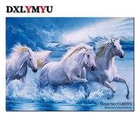 Diy Paintings Pastoral Resin 3D Diamond Painting Embroidery Horse Dmc Needlework Animal Patterns Mosaic Kits