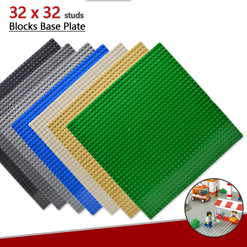 Base Plate 32x32 Fits for Figures Building Blocks Single Sale 16*32 Dots Baseplate Designed for Good Gifts for Children new big size 40 40cm blocks diy baseplate 50 50 dots diy small bricks building blocks base plate green grey blue