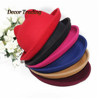 6 Colors 2015 New Arrivals Women Cute Cat Ears Hat Cap Christmas Cloth Cap Bucket Hats