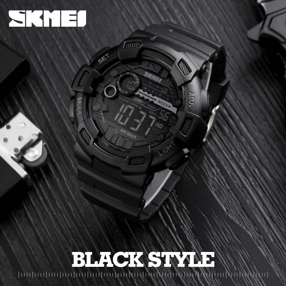 SKMEI Fashion Sport Watch Men LED Display Double Time 50M Waterproof Watches Male Clock Relogio Masculino Outdoor Sports Watches