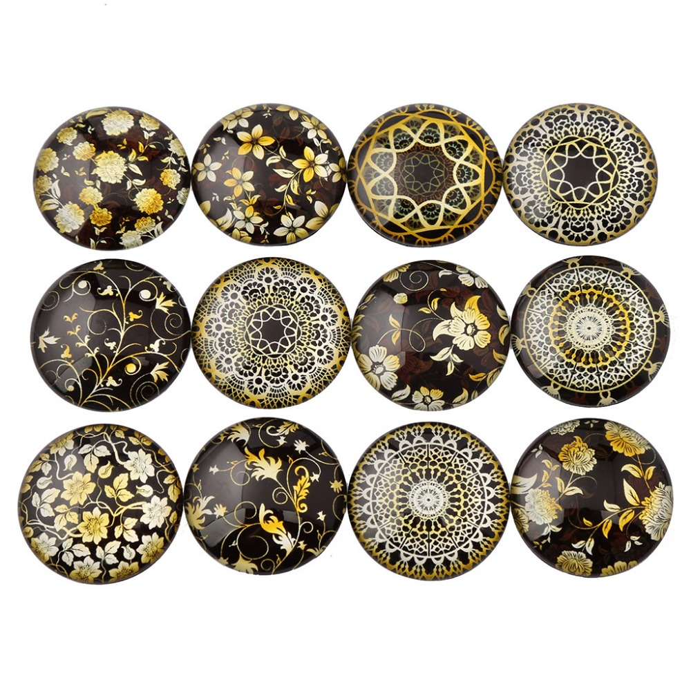 Adjustable designer pattern gift vintage cabochon cabochons colorful mother/'s day vintage glass bronze ethnic Christmas
