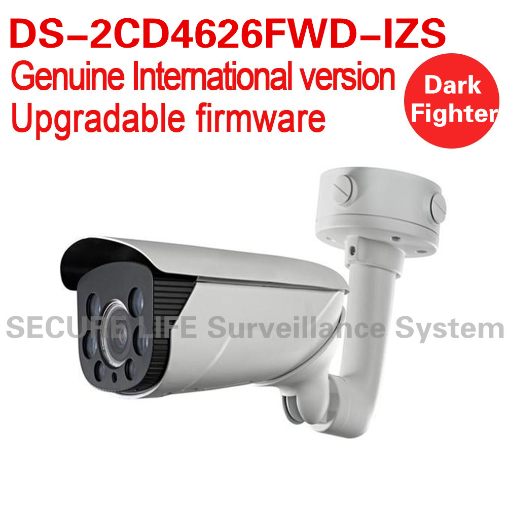 Free shipping DS-2CD4626FWD-IZS English version 2MP Low Light Smart bullet cctv Camera POE 50m IR, mortorized VF lens audio ds 2cd4a26fwd izh english version 2mp low light smart bullet ip cctv camera poe lpr 50m ir mortorized vf lens heater no audio