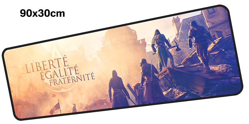 Assassins Creed mouse pad gamer 900x300mm notbook mouse mats gaming mousepad cheapest pad mouse PC desk padmouse accessories