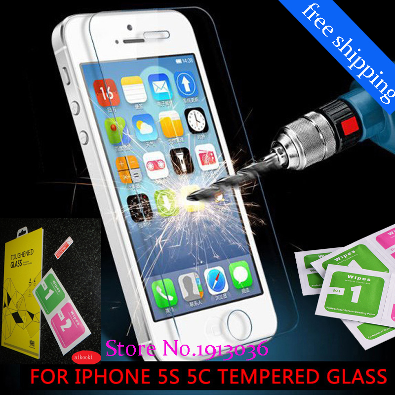 aikooki Tempered Glass 9H screen film for iPhone 5S 6 S 7 Tempered Glass film for iphone 6 6S plus front protection Glass film
