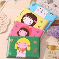 Free Shipping!Waterproof cartoon portable flower girl PVC card sets Business ID Credit Card Holder Case Driving license cover
