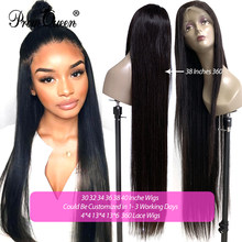 30 32 34 36 38 40 inch Long Wig 250% Density 13*4 / 13*6 / 360 Lace Front Human Hair Wigs Brazilian Virgin Hair With Baby Hair(China)