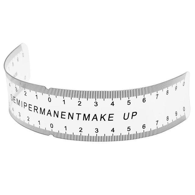 New Permanent Makeup Stencils Reusable Eyebrow Ruler Measure Tool Makeup Eyebrow Ruler Tool Measures 2