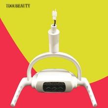 2020 nova tdoubeauty dental led lâmpada de luz oral para unidade dental cadeira tipo teto luzes sensor luz oral (22mm) frete grátis