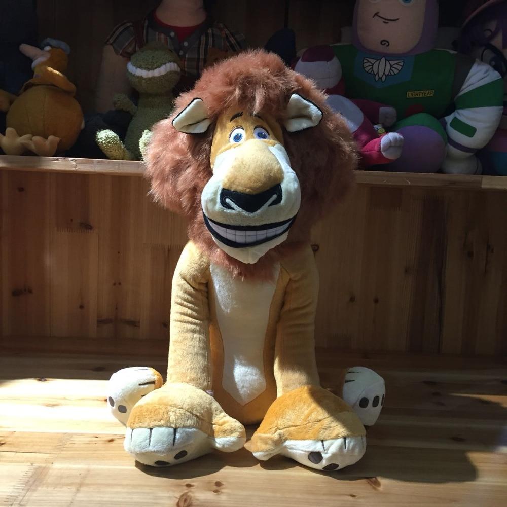 Movie Madagascar Lion Plush Toys Cute Animals Kids Gift Seating Version 40cm Big Size