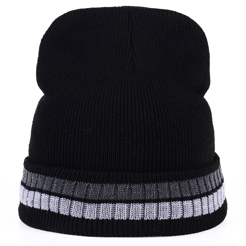 New Fashion Winter Women Hat Beanies Unisex Hats with thicker cashmere Knitted Cap For Men Beanies Simple Soft Warm Caps 3pcs unisex hats cap beanies for men