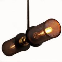 Luz pingente do vintage nordic loft poroso e27 led ferro gravura abajur barra restaurante lâmpada criatividade estilo ferrugem pingente lâmpada|Luzes de pendentes| |  -