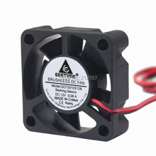 цена на 10pcs Gdstime Mini Cooler 5 Blade 2Pin DC 12V 3010 3cm 30mmx30mmx10mm 30MM Brushless Cooling Fan