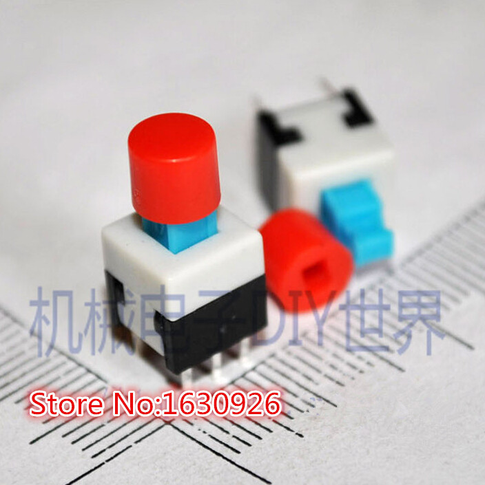 100Pcs For 12X12X7.3MM Tact Switch White Round Tactile Button Caps Ic New oc