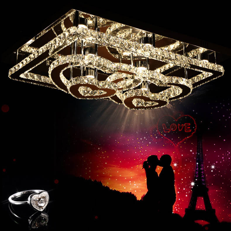 The high quality LED 30W 11-20light  K9 Crystal ceiling Lihting 110-240v Crystal lamp the