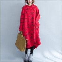 New Winter Long Korean Plus Thick Velvet Warm Hooded Large Size Women S Sweatshirt Animal Deer