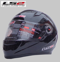 Free shipping high-grade genuine original LS2 FF358 motorcycle helmet safety helmet full helmet Racing /Bright black