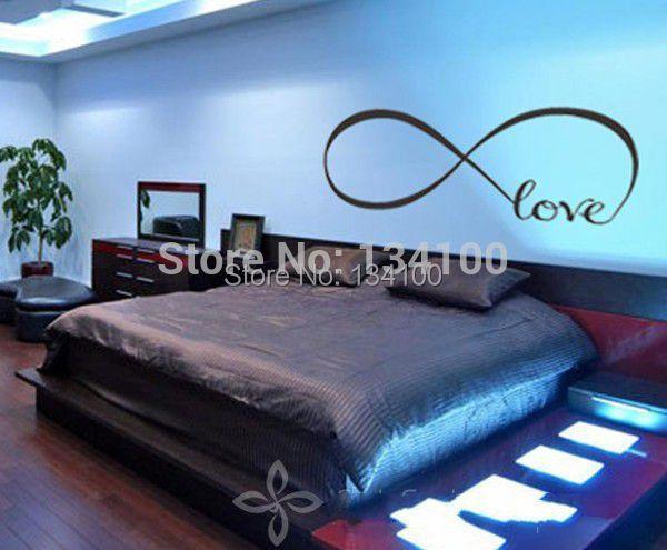 Slaapkamer Muur Quotes : Muurtattoo van liefde gepersonaliseerde infinity symbool slaapkamer