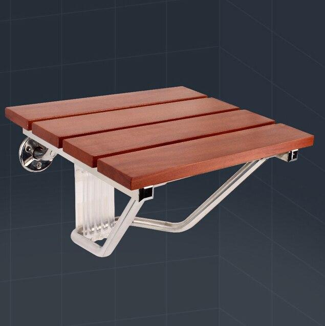 Parede cadeira assento em madeira Maciça de parede do chuveiro assento dobrável espaçamento saving wall mounted assento morden relaxamento