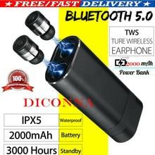 цены PYMH Bluetooth 5.0 Headset Mini TWS Twins Wireless In-Ear Stereo Earphones Earbuds