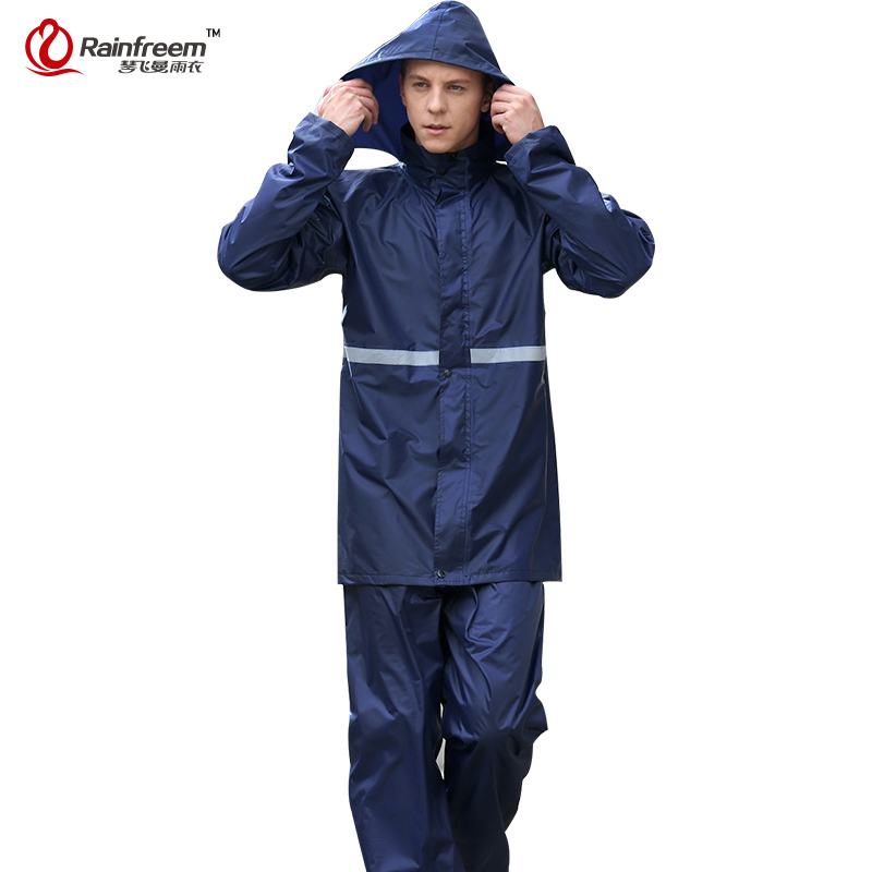 Rainfreem Imperméable Imperméable Femmes/Hommes Vêtements de Pluie Unique-couche Pluie Manteau En Plein Air Femmes Moto Imperméables vêtements de Pluie Poncho