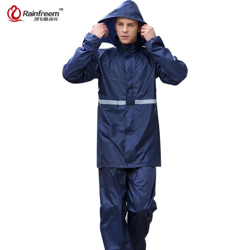 Rainfreem Impermeable Raincoat Women/Men Rainwear Single-layer Rain Coat Outdoor Women Motorcycle Raincoats Rain Gear Poncho