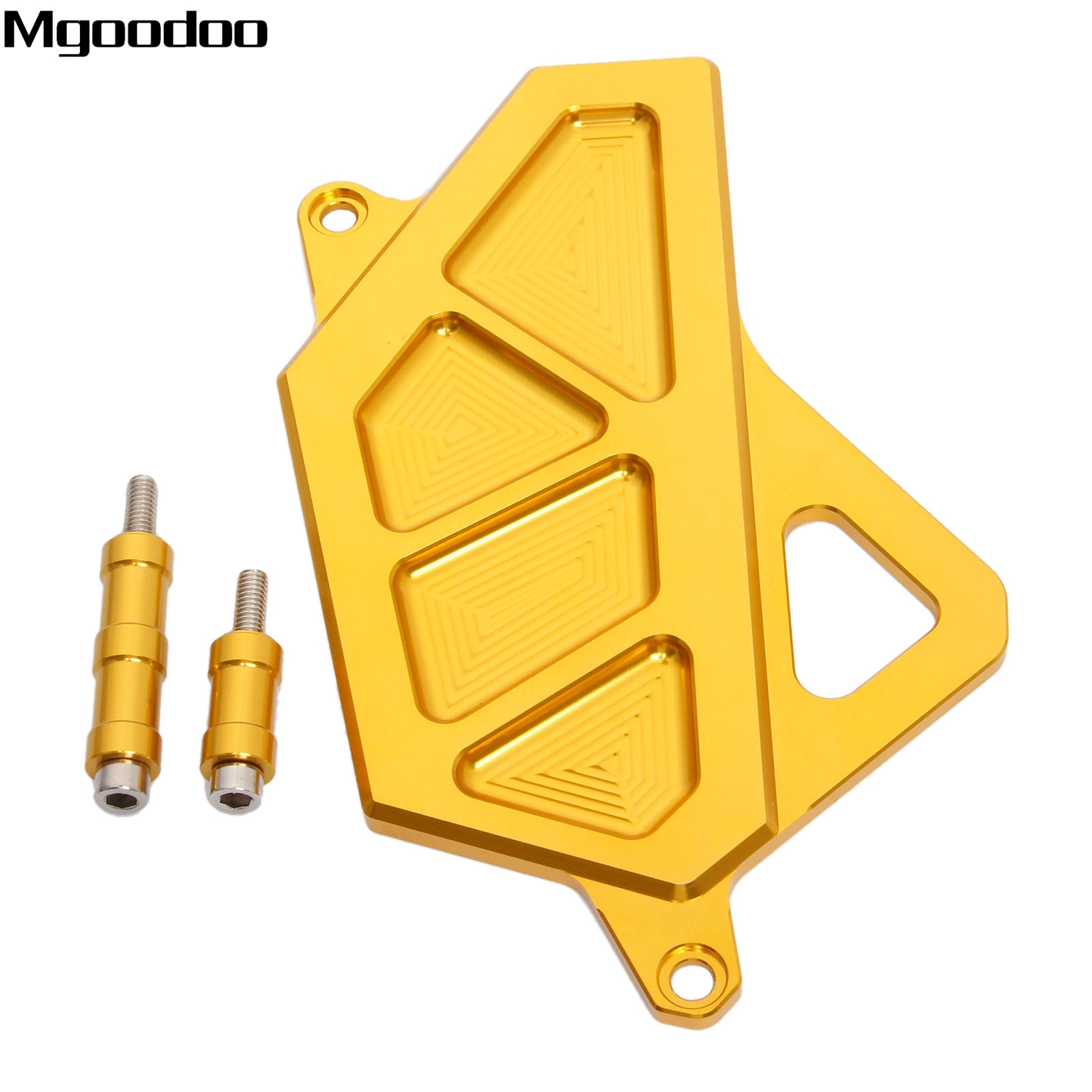 Mgoodoo CNC Aluminum Motorcycle Left Engine Guard Chain Protector Front Sprocket Cover Panel For YAMAHA R3 R25 2014 2015 2016 mgoodoo cnc aluminum motorcycle left engine guard chain protector front sprocket cover panel for yamaha r3 r25 2014 2015 2016