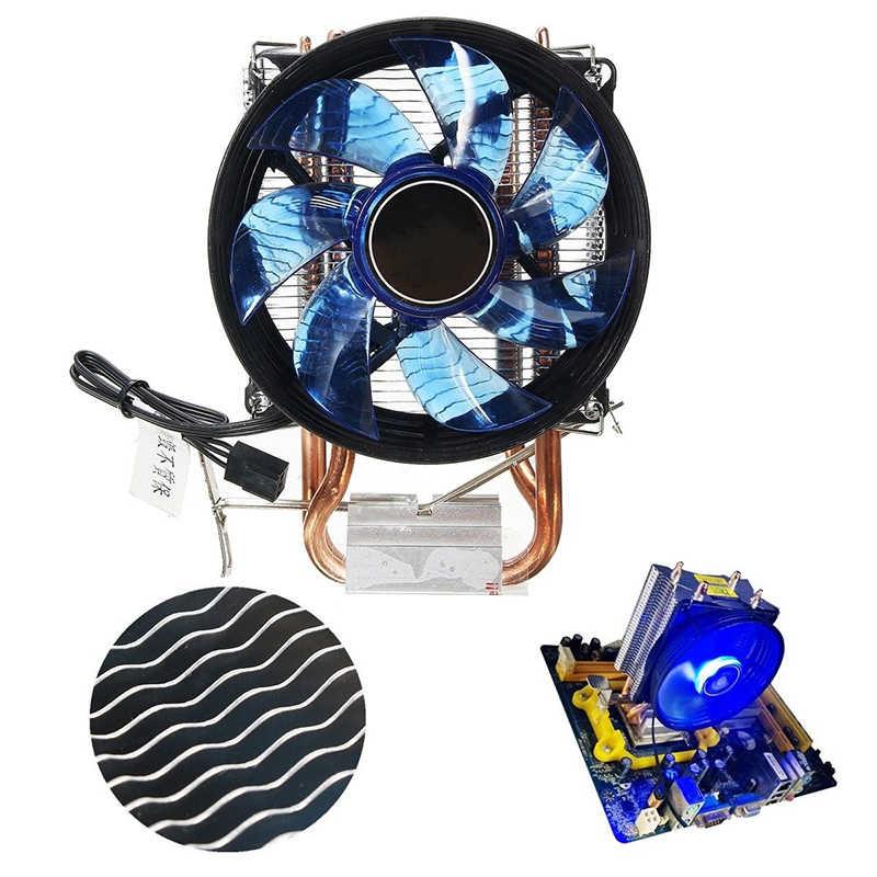 LEVOU Cooler Ventilador do Dissipador De Resfriamento 90mm Duplo Heatpipe CPU Tranquila Ventiladores de Refrigeração Para Intel Socket LGA1156/LGA1155 /LGA775 AM3 AMD