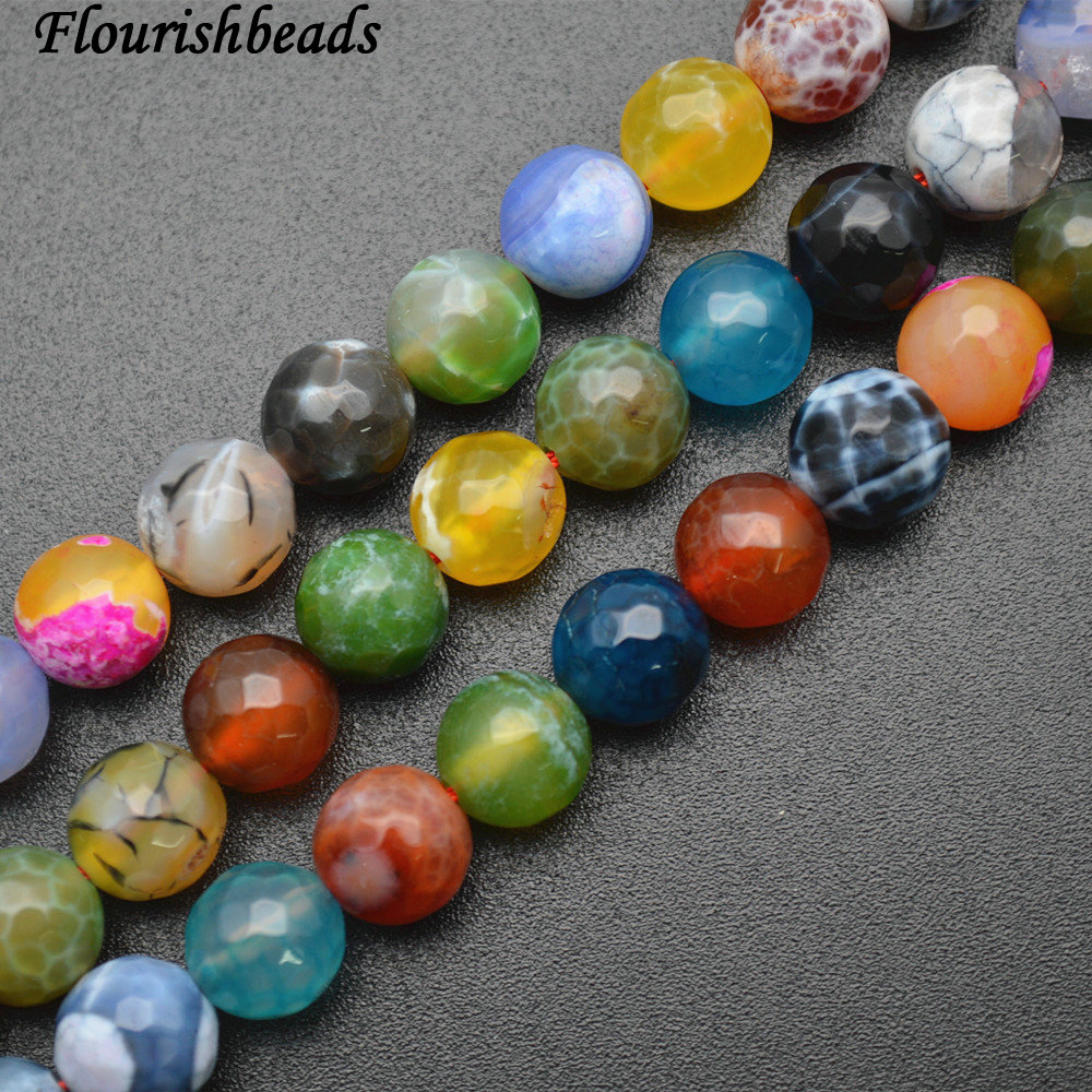10 Beads Agate Beads Violet Dragon Veins 8mm Fire Agate Stone Beads Gemstone Purple Pink Crackle Agate