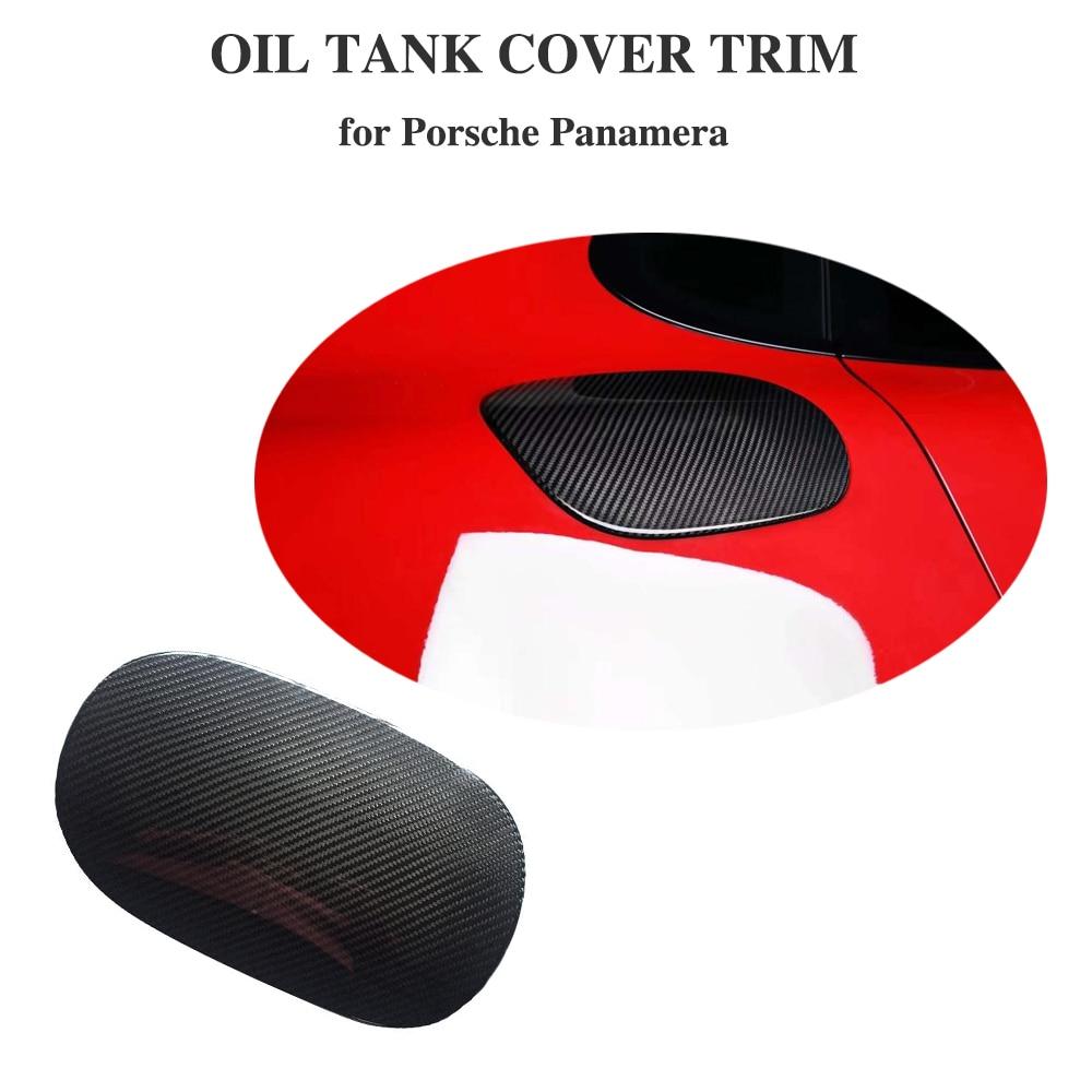 Fuel Tank Cover For Porsche Panamera 971 Carbon Fiber 2017 2018 Auto Accessories for Car Modified exterior parts Car Styling