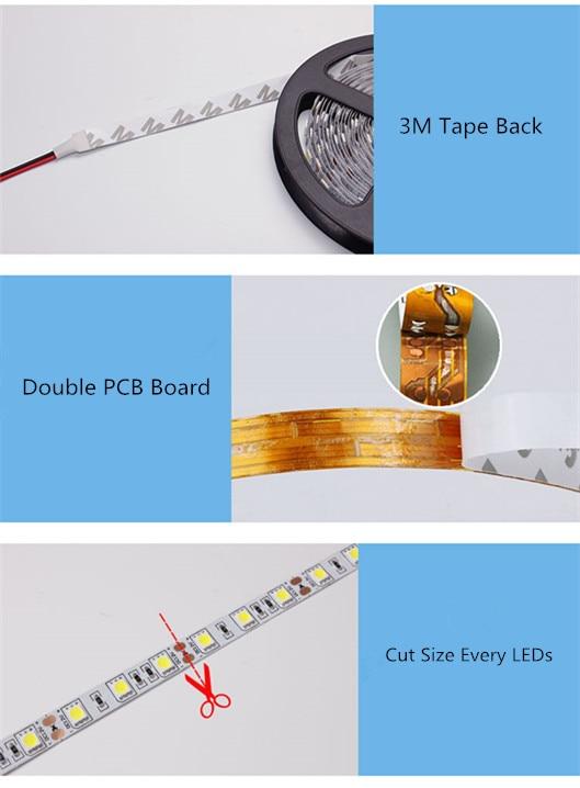 Computer Desk 5V USB Led Strip Lighting Decoration USB Input Reading Table Tape Background Flexible 30 1meter 2meter Table Lamp