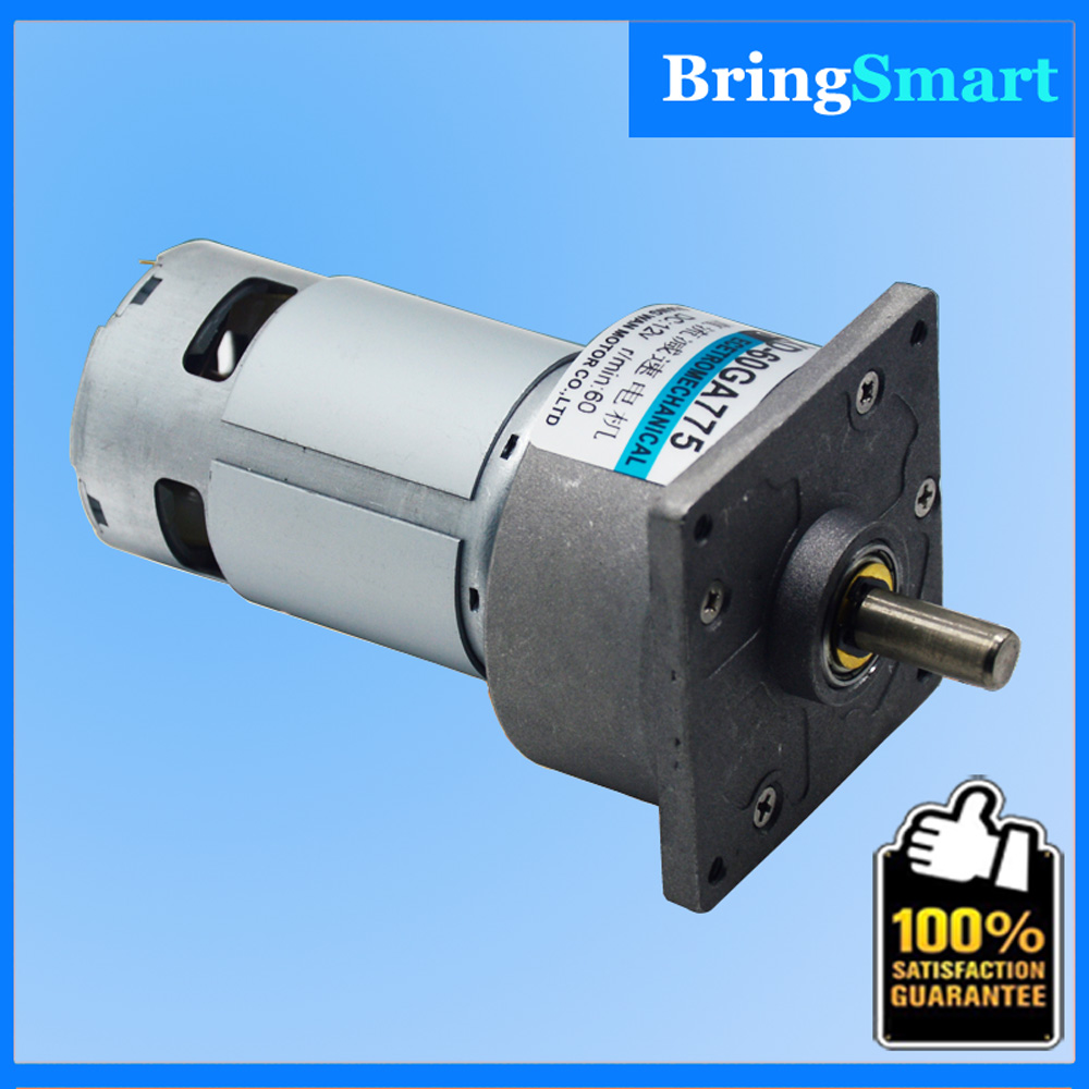 60GA775 High Torque 12v Dc Motor 12V and 24V Of Gear Motor With accurate ball bearing Suitable for electric tools Bringsmart high power 12v 24v dc motor 775 large torque ball bearing tools low noise