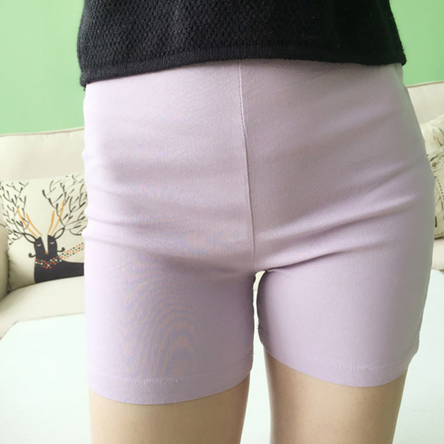 Slim Skinny Women Shorts 2016 Summer Style High Waist Stretched Shorts Plus Size 3XL Pink White Black Lavender HS40
