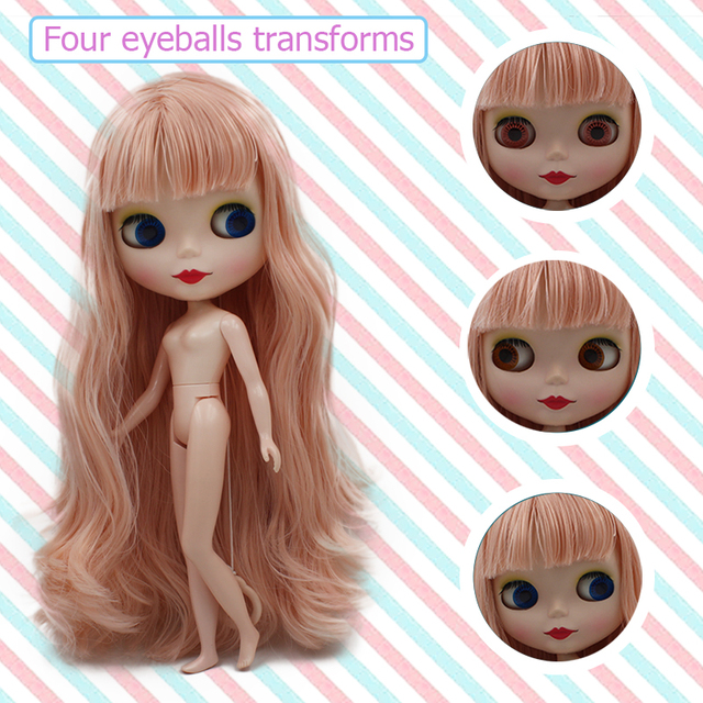 Blyth Doll BJD, Factory Neo Blyth Doll Nude Customized Dolls Can Changed Makeup and Dress DIY, 1/6 Ball Jointed Dolls Gift Ideas 3