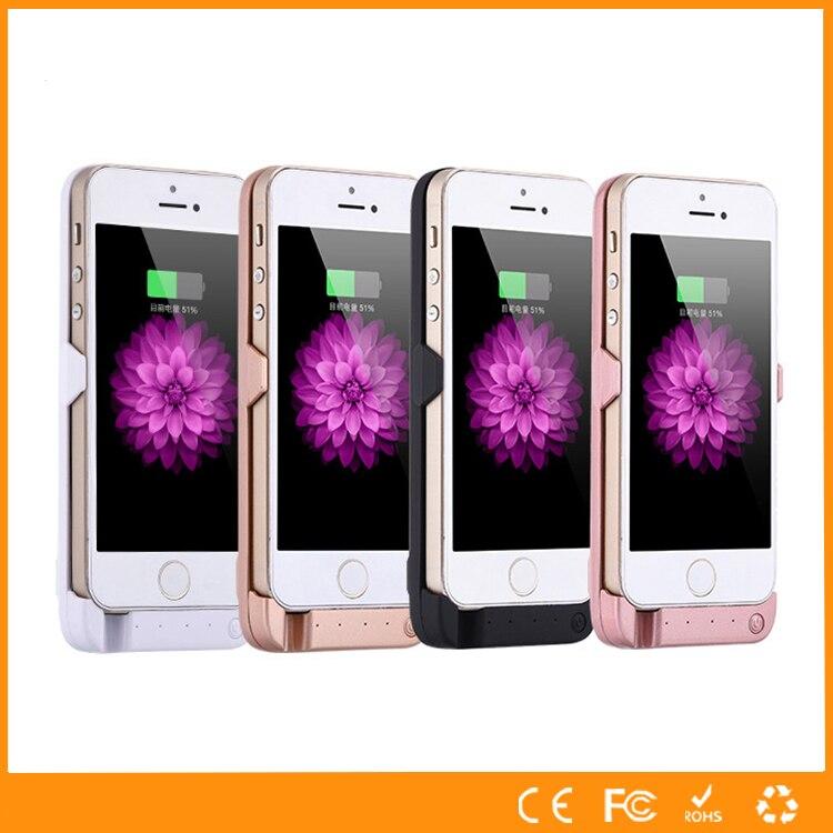 imágenes para 4200 mah caja de batería del soporte para apple iphone 5 5s 5c se ultra thin cubierta del cargador de reserva para el iphone 5 5s 5c se inteligente banco de la energía