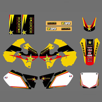 NICECNC Motorcycle Graphics Decals Stickers For Suzuki RM125 RM250 1996 1997 1998 RM 125 250 Rockstar Matching Sticker Yellow