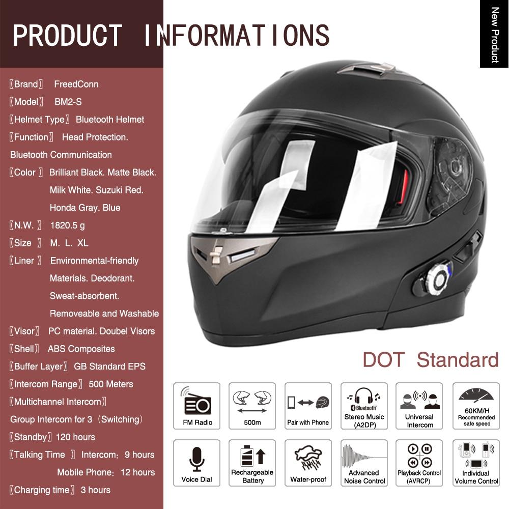 2017 FreedConn Smart Bluetooth мотоциклдік дулыға - Мотоцикл аксессуарлары мен бөлшектер - фото 2