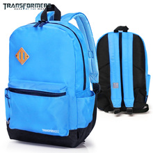 TRANSFORMERS School Bags casual backpack for Boys Girls Simple and light weight Bright colors are easier to see in the crowd