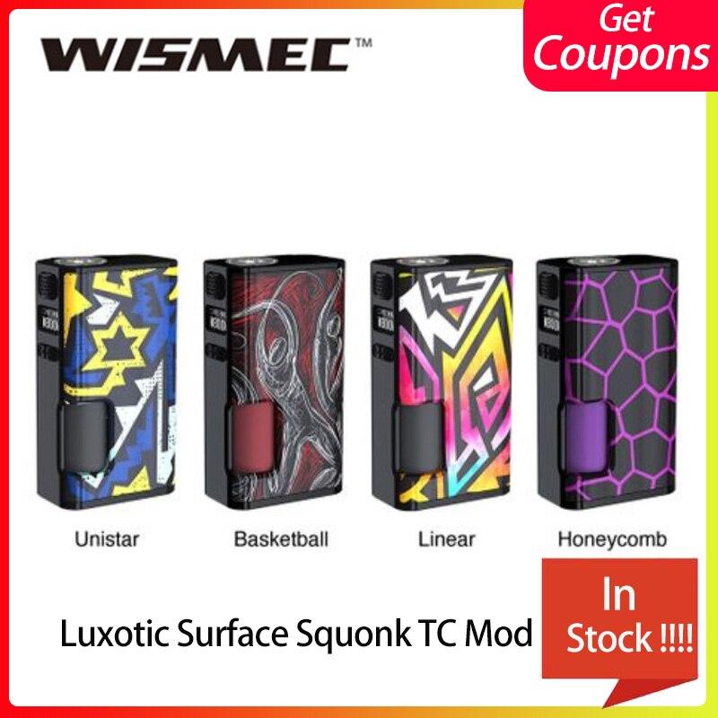 Nouveau WISMEC Luxotic Surface 80 W Squonk TC MOD 6.5 ml Squonk bouteille vaporisateur cigarette Vape Mod fit Kestrel réservoir VS ageis mini