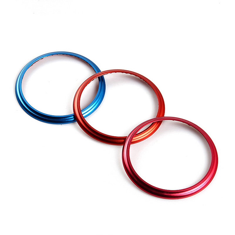 2 Pcs/Lot Car Styling Air Conditioning Outlet Decorative Circle Trim Aluminum  For Subaru BRZ  2013 2014 2015 2016 bjmycyy aluminum alloy air outlet chrome trim ring car dashboard air vents cover decoration for audi a3 s3 2013 2016 q2 2017