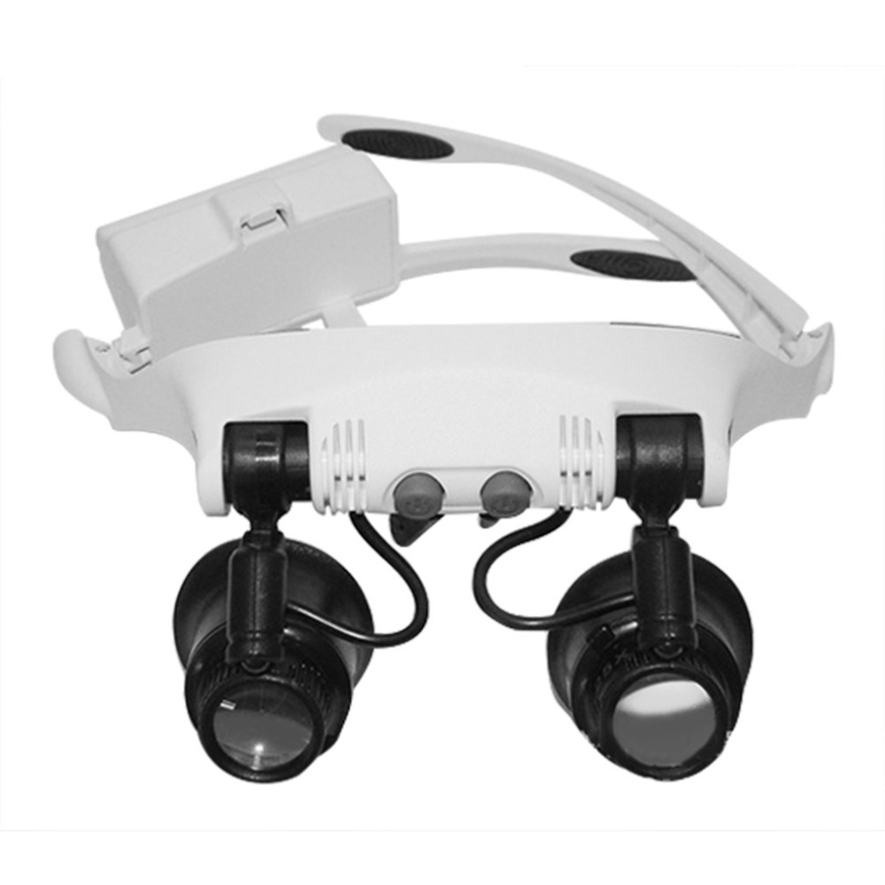 Headband Head Wearing Magnifier With 2led Light Eye Loupe