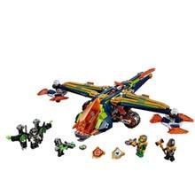 638db Knights Nexo Knights Aaron X-Bow Fighter sík modell Építőelemek Gyerekjátékok Tégla Nexus kompatibilis legoinglysekkel