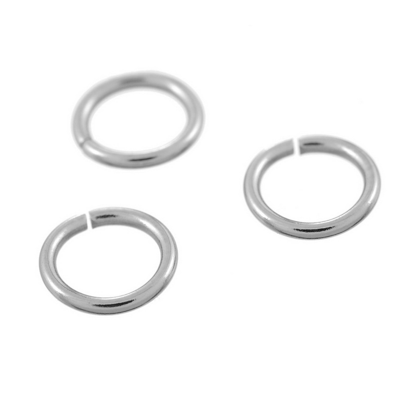 LASPERAL 100PCs 6mm Stainless Steel Open Jump Rings For Jewelry Making DIY Accessories Hand Made Craft Bright Silver Tone