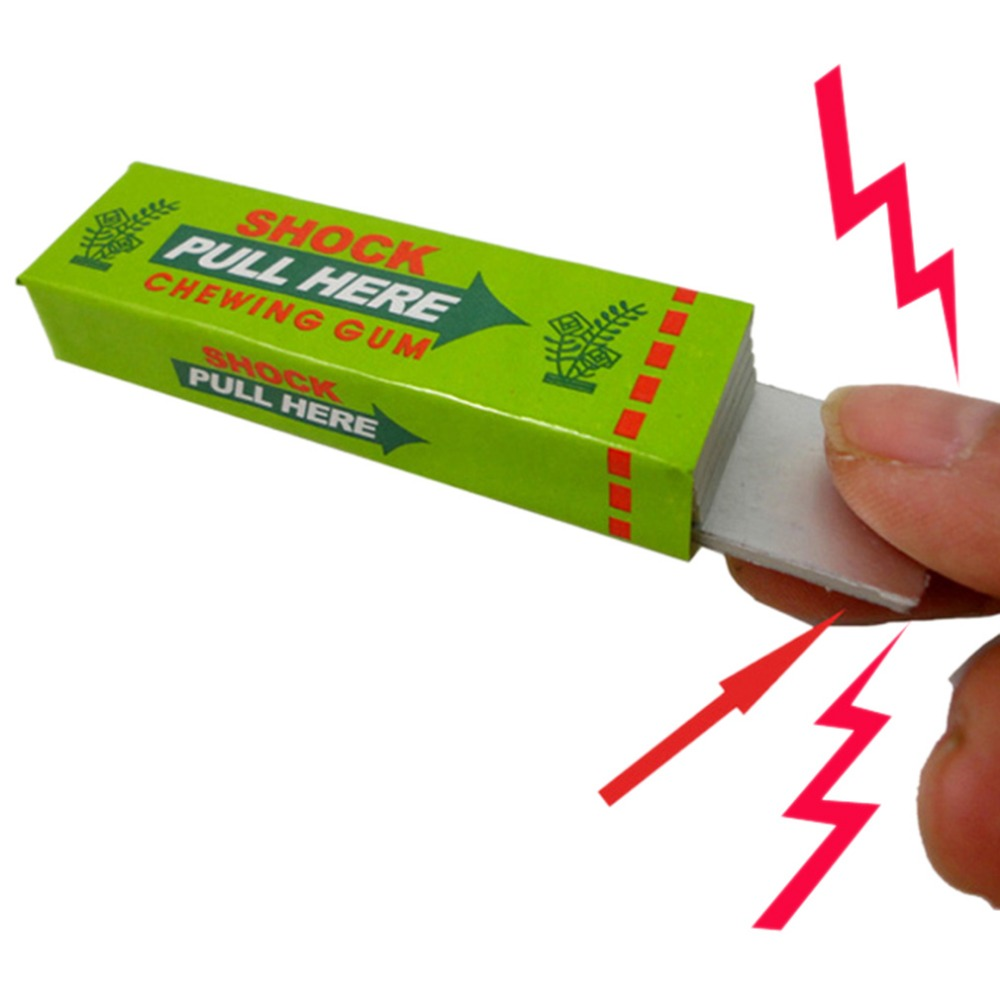Toys 2016 New Hot! 1pc Safety Trick Joke Toy Electric Shock Shocking Chewing Gum Pull Head image