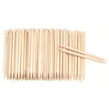 100Pcs Wood Sticks Cuticle Pusher Remover Pedicure Manicure Tool Nail Art  Equipment 5W41 7GXI useful nail brush 50 100pcs bag nail art wood sticks for nail art decorations cuticle pusher remover pedicure manicure tools