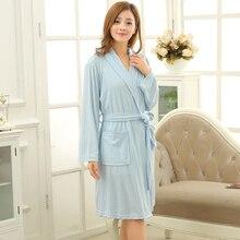 92b9af77fb Hot Selling Women Summer Thin Towel Bathrobe Sexy Cotton Kimono Bath Robe  Long Sleeve Dressing Gown