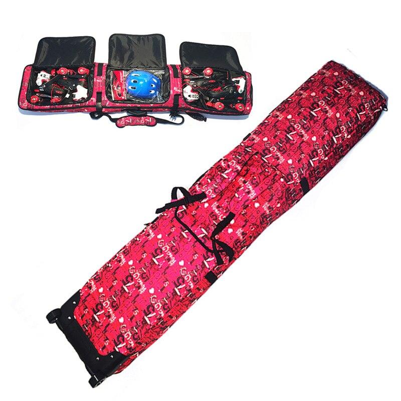 Sacs de ski à roulettes double planche Snowboard paquet épaule ski sac à dos vérifié sacs de ski - 2
